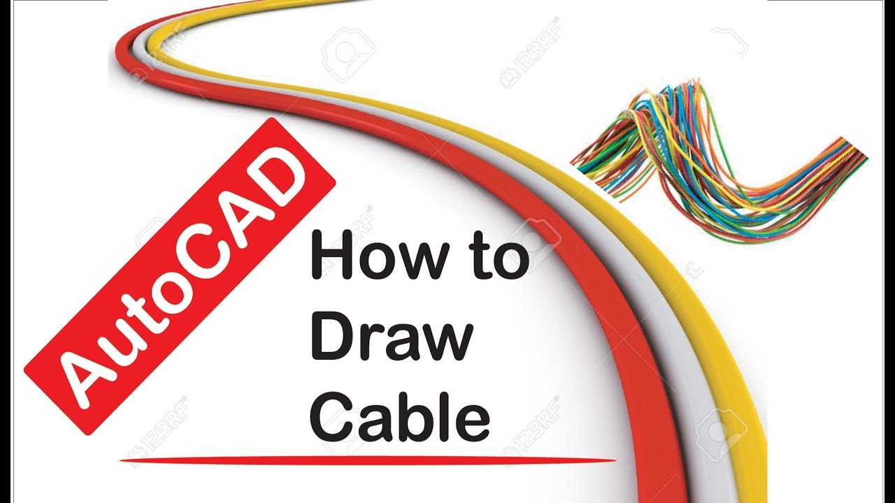 How To Draw Cable In Autocad Youtube