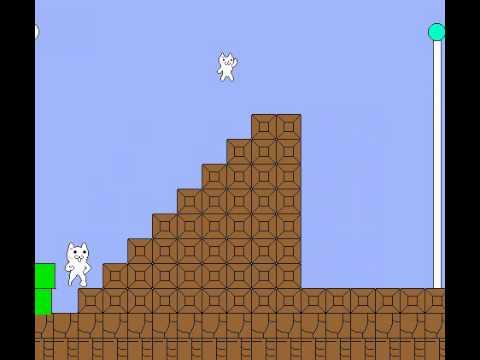 Gameplay Cat Mario (самая сложная игра в мире)
