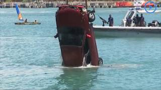 UPDATE: Emergency personnel retrieve the vehicle that plunged into the ocean