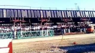 Керченский мост сегодня 23.01.2017/ Обзор с новой площадки хранения материала/ Элементы АД моста