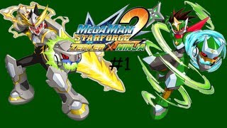 MegaMan Star Force 2 - Zerker x Ninja Gameplay\Walkthrough Part 1