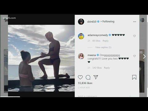 Sue Bird posts photo with Megan Rapinoe down on one knee ...
