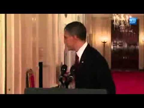 Obama Walks Away to Cell's Theme