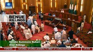 Senate Summons Buhari Over Benue Killings |News Across Nigeria|