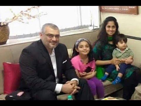 Actor Ajith Family Photos With  Wife Shalini, Daughter Anoushka, Son Aadvik