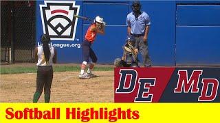 Frankford, DE vs Delmar, MD Softball Highlights, 2021 Little League East Region Elimination Game