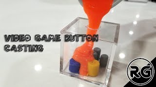 Casting Custom Video Game Buttons out of Resin, two part mold tutorial