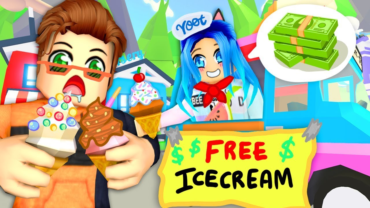 The Best Ice Cream Truck In Roblox Adopt Me Youtube