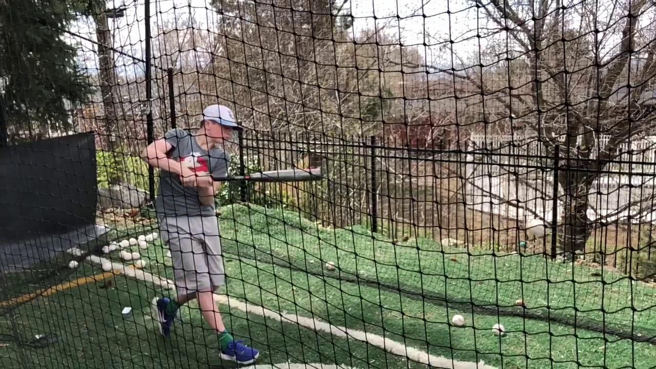 2019 Demarini CF Zen Cage Side Hitting