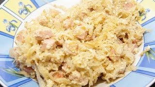 Sauerkraut & Potato Casserole