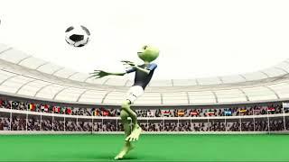 Зелёный человек футболист в разной скорости
