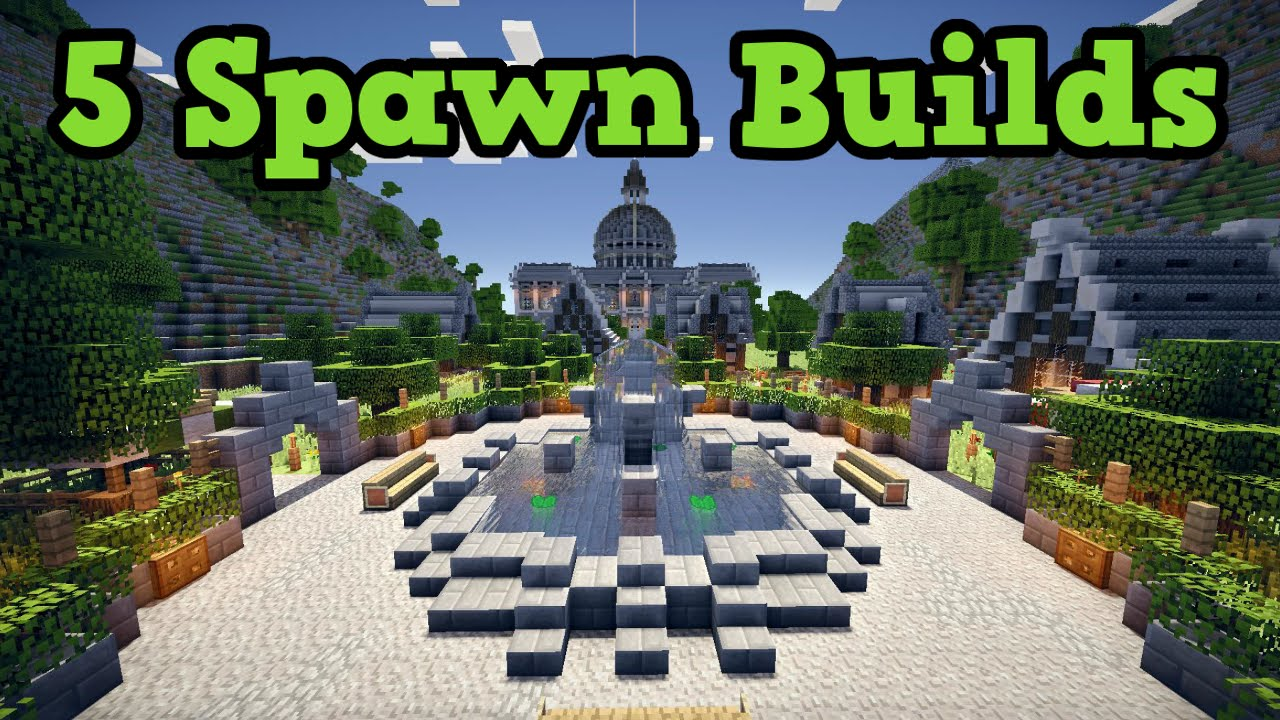 Minecraft Xbox 360 Ps3 5 Builds For Spawn Area Youtube