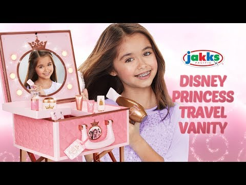 JAKKS PACIFIC'S DISNEY PRINCESS TRAVEL VANITY! | A Toy Insider Play by Play