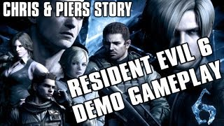 RESIDENT EVIL 6 DEMO GAMEPLAY CHRIS & PIERS | ARCHIVES & ANTHOLOGY TALK