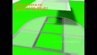 Раскрой поликарбоната и сборка теплицы(Раскрой сотового поликарбоната и сборка теплицы