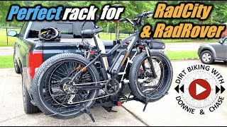 Hollywood Racks Sportrider SE for Fat Tire E-bikes | First use with RadRover and RadCity Step-thru