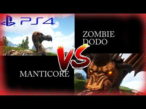 ARK PS4 Zombie Dodo VS. Manticore inkl. Spawn command / Cheat