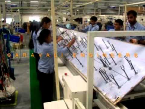 hqdefault wire harness assembly conveyor double sided youtube delphi wiring harness plant india at bayanpartner.co