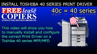 How to manually install a Toshiba Print Driver