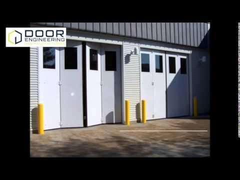 Door Engineering Four-Fold Doors for Parking Garages