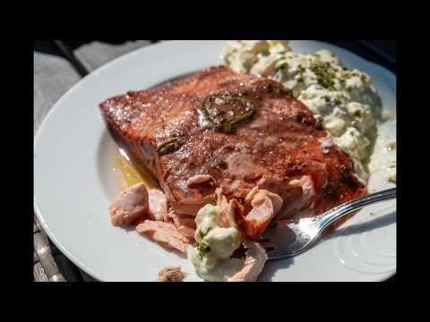 Strawberry - Jalapeno marinated Salmon