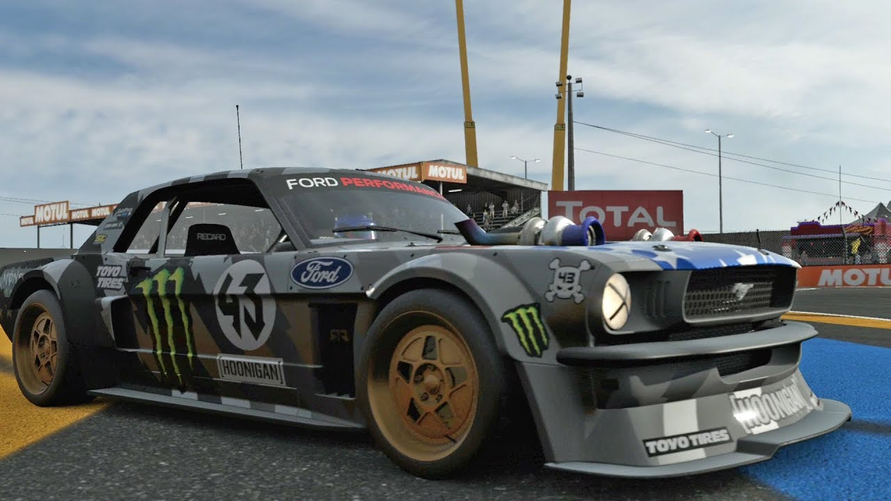 Forza motorsport 7 hoonigan ford hoonicorn mustang 1965 test drive gameplay hd 1080p60fps - Hoonicorn specs ...