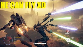 Star Wars Battlefront 2 Grievous can fly now! XD Grievous carrying the CIS! (Capital Supremacy)