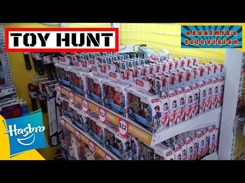 STAR WARS TOY HUNT ON ALL THINGS HASBRO FROM THE DEPARTMENT STORES IN MASSIVE HAULS!