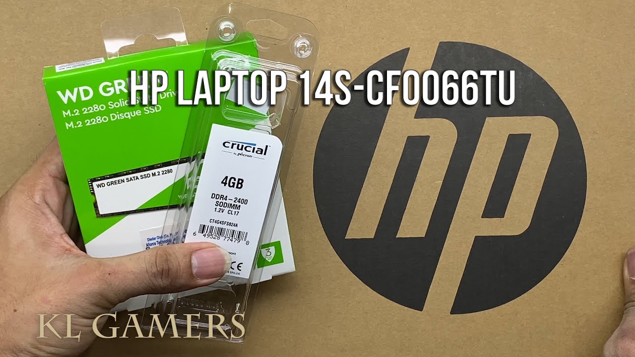 Download HP Notebook Laptop 14s-cf0066TU upgrade WD Green M.2 2280 SSD DDR4 RAM increase speed 2020