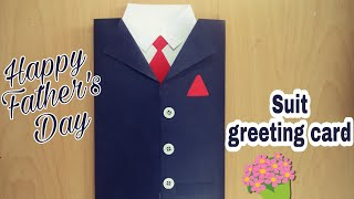 How To Make Suit Greeting Card | DIY | Handmade Greeting Cards | Birthday/Fathers Day Greeting Card