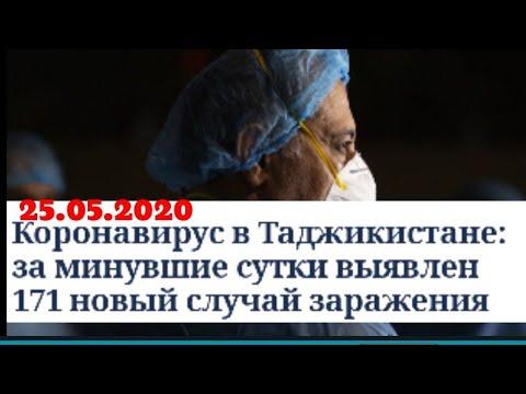 ВТаджикистанекоронавирусомзараженысвыше3тысяччеловек. 25.05.2020.