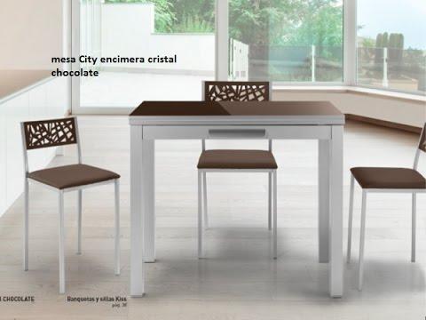 Mesa cocina pequeña extensible City en 90x45 para cocinas ...