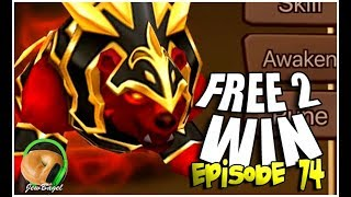 SUMMONERS WAR : FREE-2-WIN - Episode 74 - URSHA the Fire Warbear Play Day!