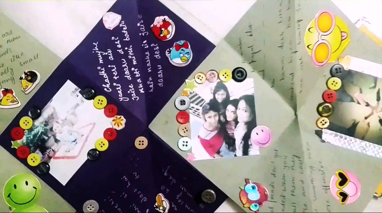 Wonderful Friendship Day Card Making Ideas Part - 14: Squash Card#happy Bday Card#friendship Day Card. - YouTube
