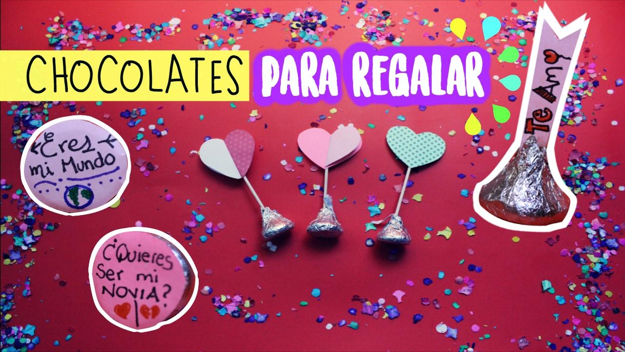 CHOCOLATES KISSES PARA REGALAR | Ideas fáciles y económicas 14 de ...