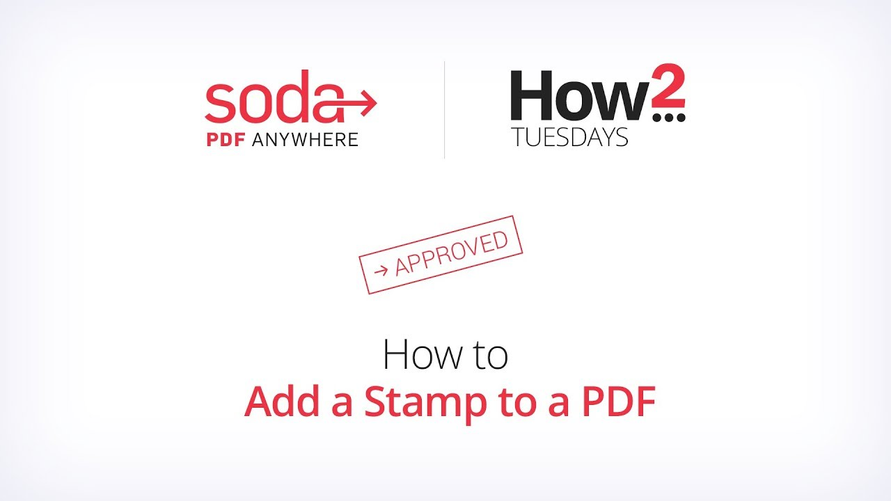 How to Add a Stamp to a PDF