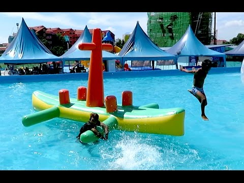 Lucky Fun Water Park in Phnom Penh City - Playground in Cambodia