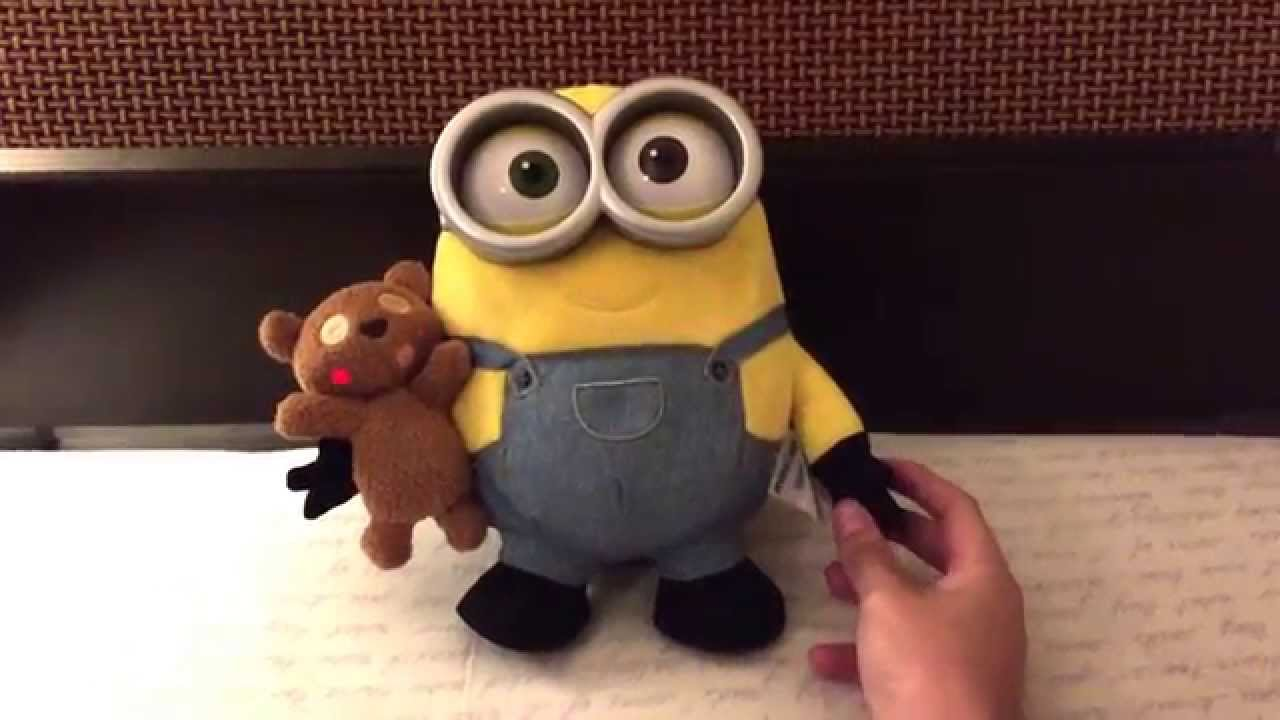Exceptional Minions Movie, Bob Talking Plush With Teddy Bear   YouTube