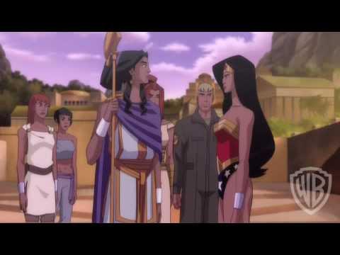 wonder woman animated movie birth of the hero youtube