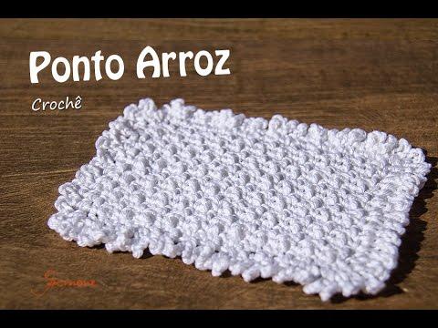Ponto de Crochê | Ponto Arroz | Professora Simone