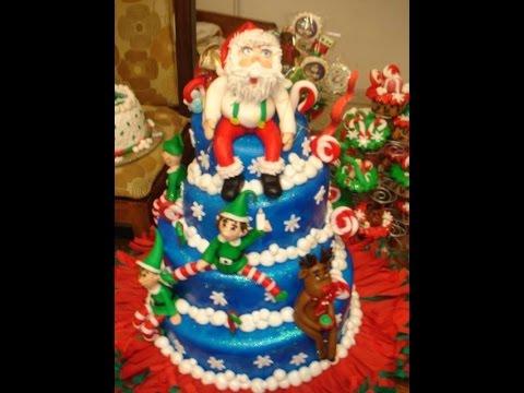 curso de modelado de figuras de navidad con fondant