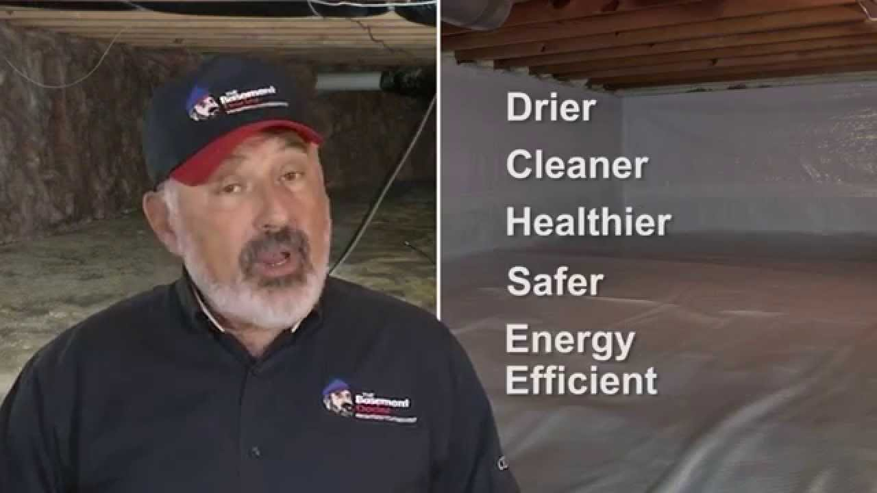 Crawlspace Encapsulation | Whitecap Vapor Barrier | The Basement Doctor |  Columbus Ohio