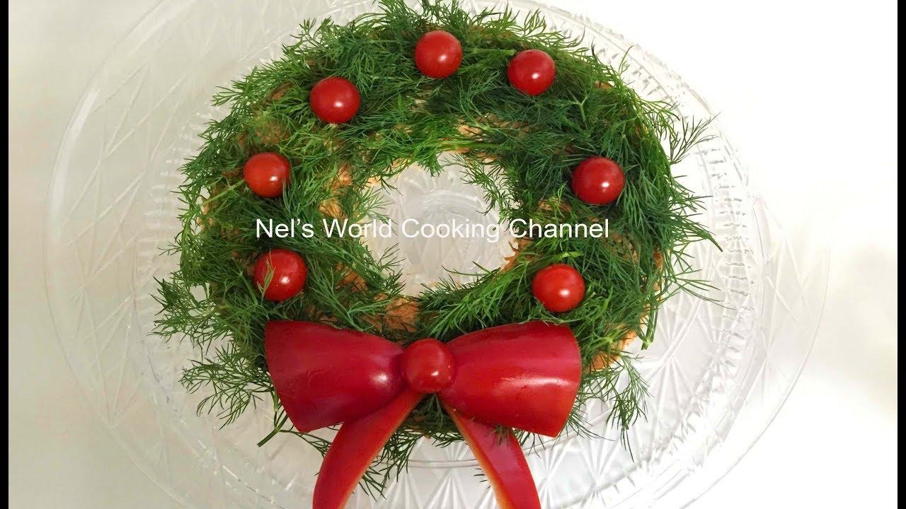 Christmas wreath salad - Ամանորյա գեղեցիկ աղցան - Салат Рождественский Венок. Салат Праздничный.