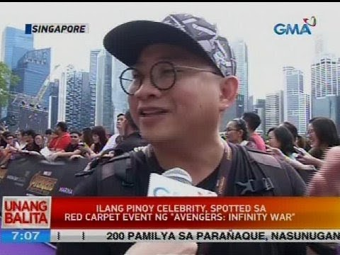 Ilang Pinoy celebrity spotted sa red carpet event ng 'Avengers: Infinity War'