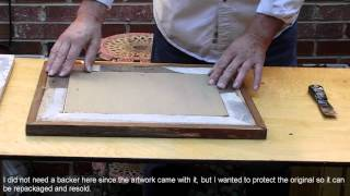 Install Glass Matting And Picture Into My Rustic Picture Frame By Jbuda