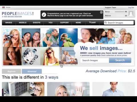 Signing Up to PeopleImages.com