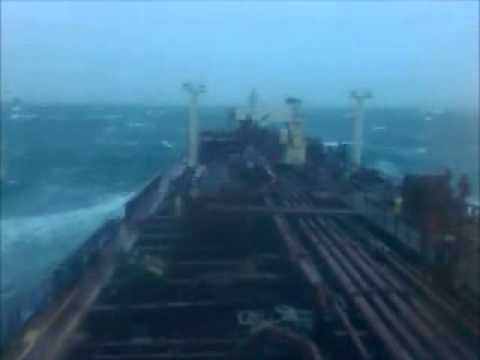 Tanker in rough sea