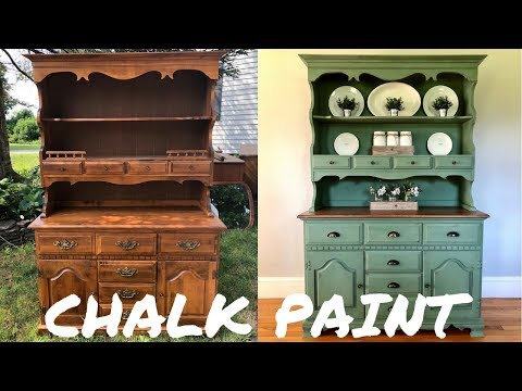 Hutch Makeover W/Magnolia Home Chalk Paint