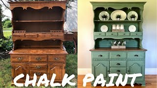 Hutch Makeover W/Magnolia Home Chalk Paint
