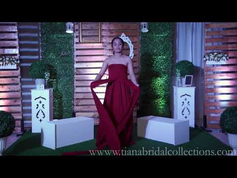 Infinity Dress Shop Ph Janely Red TianaBridalCollections Bridesmaids Gown